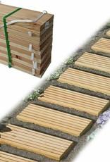 Tuinloopvlak tuinpad larikshout 250 x 35 cm