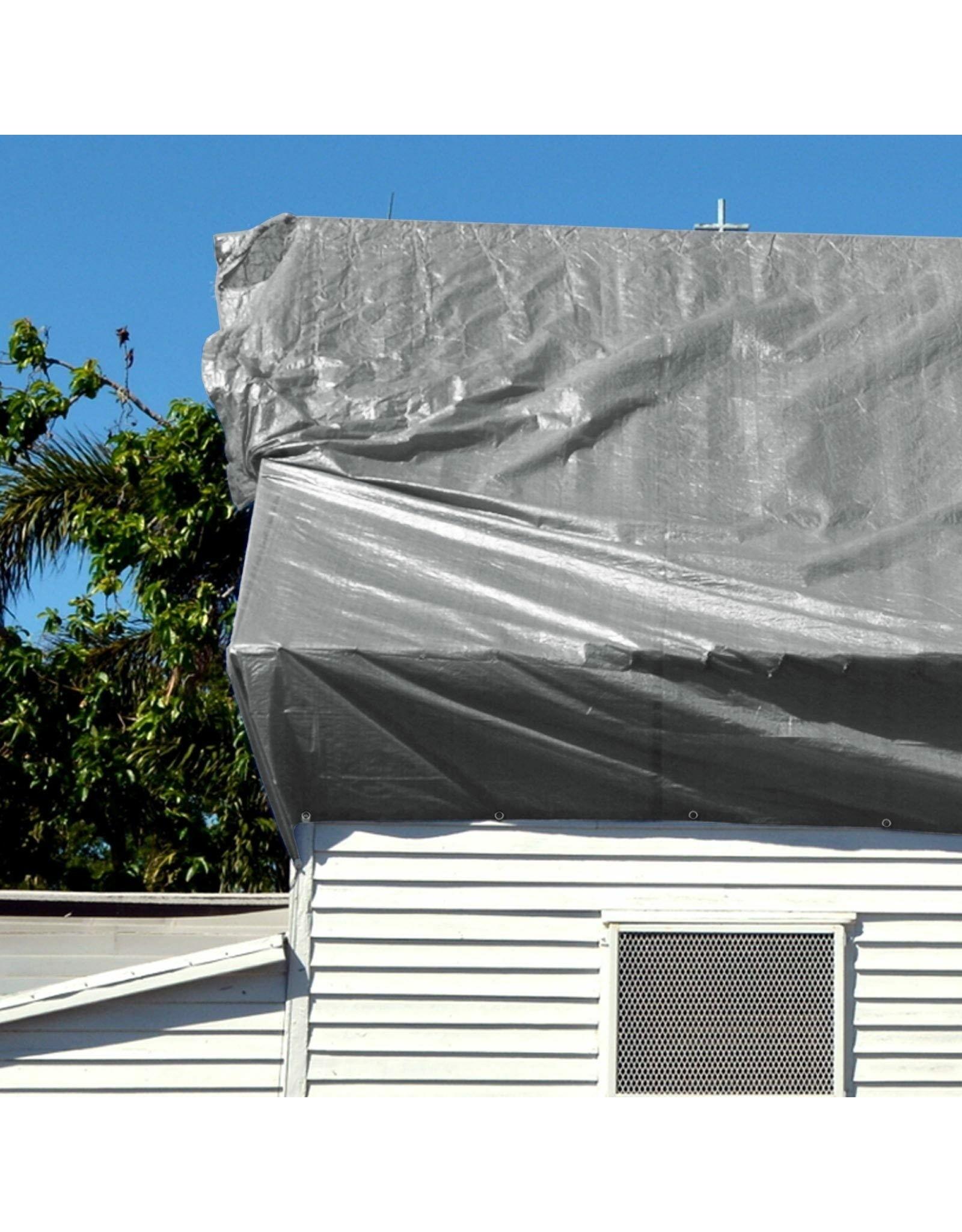 Afdekzeil, tentzeil 140g/m² met RVS lusogen