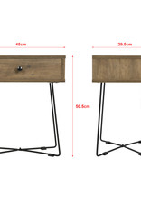 Bijzettafel, koffietafel, lampentafel industrieel design
