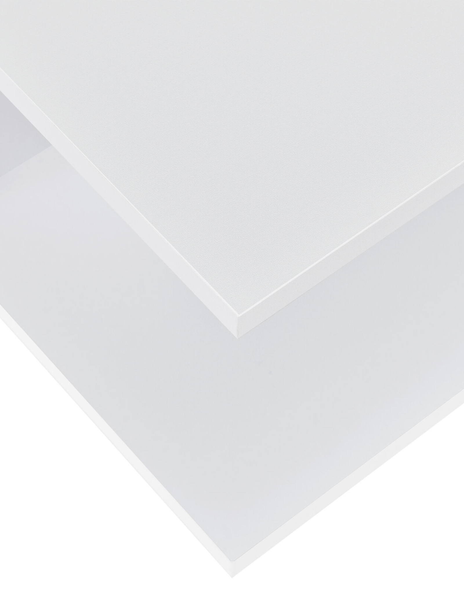 Driedelige hoekwandkast wit