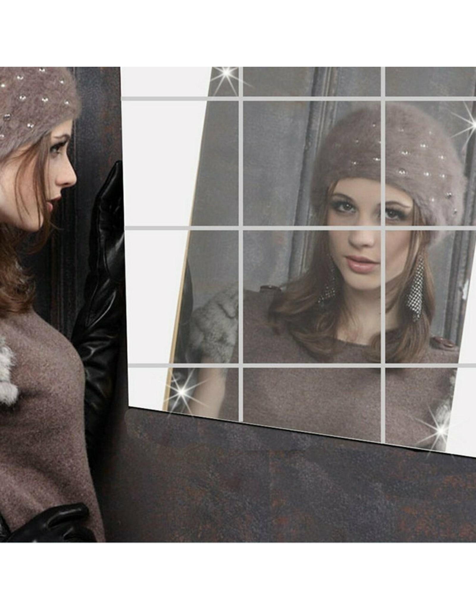 36 x spiegelfolie, tegelfolie 15 x 15 cm