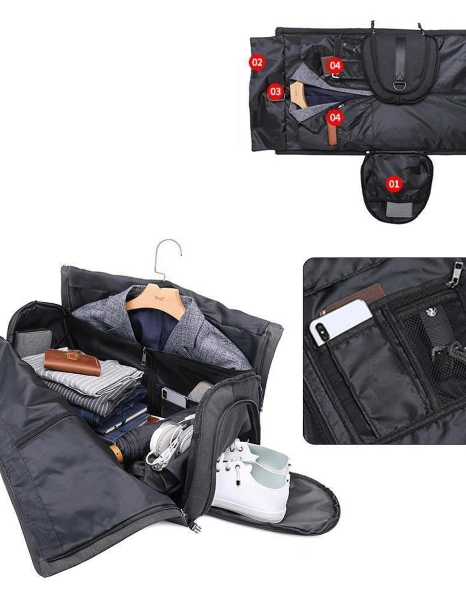 Reistas met kledinghoes en schoenenvak