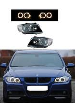 BMW 3 serie E90 E91 halogeen koplampen met Angel Eyes