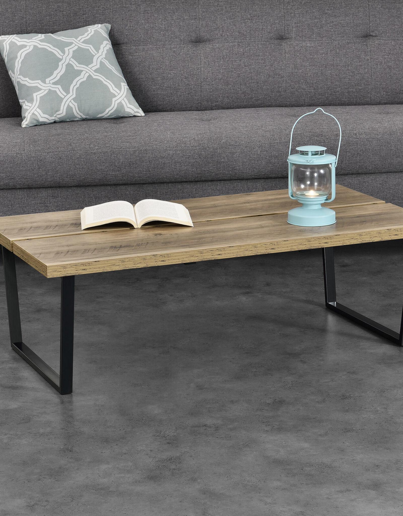 Stijlvolle salontafel met metalen frame 110 x 60 x 35 cm