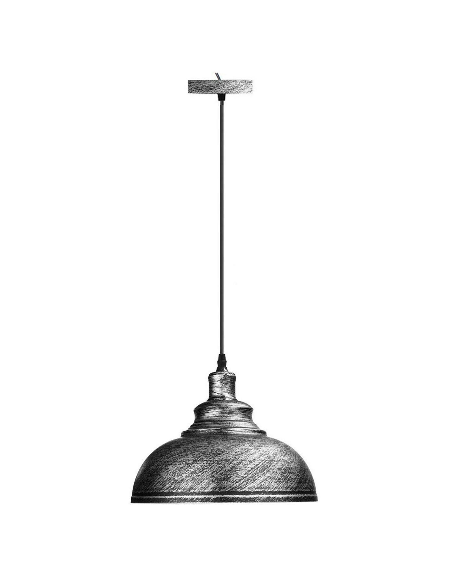 Hanglamp in geborsteld zilver look