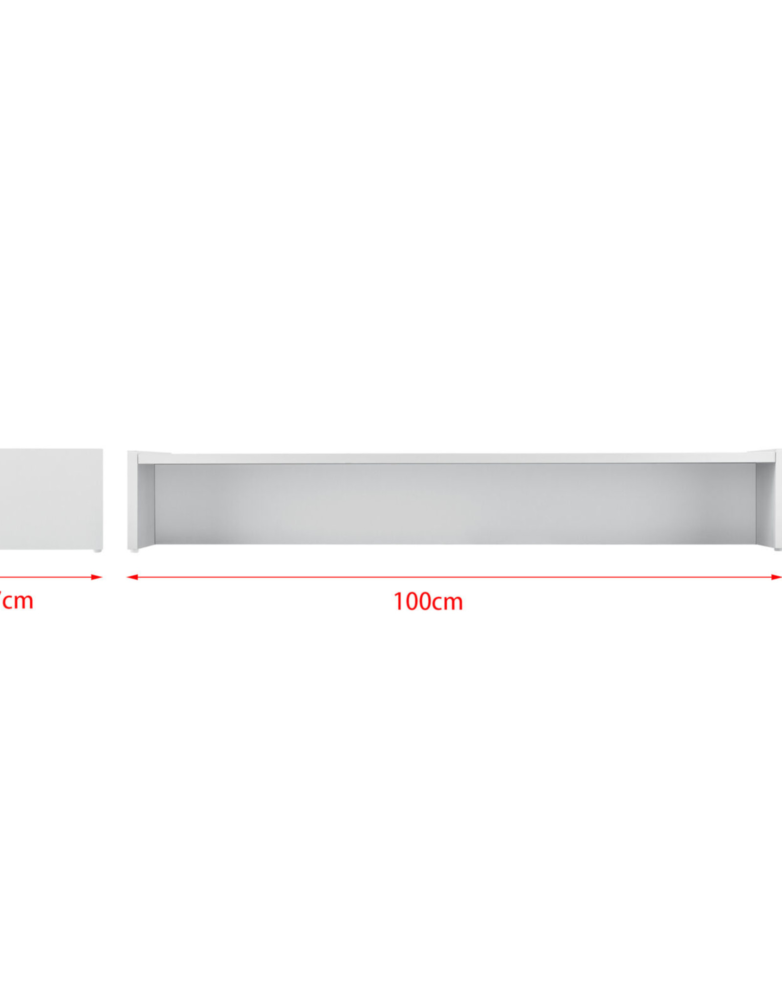 Monitorverhoging, monitorstandaard 100 x 27 x 15 cm
