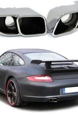 Turbo look RVS sierstukken voor Porsche 911 Carrera 997 S