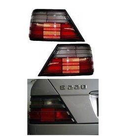 Mercedes Benz W124 achterlichtglazen rood smoke