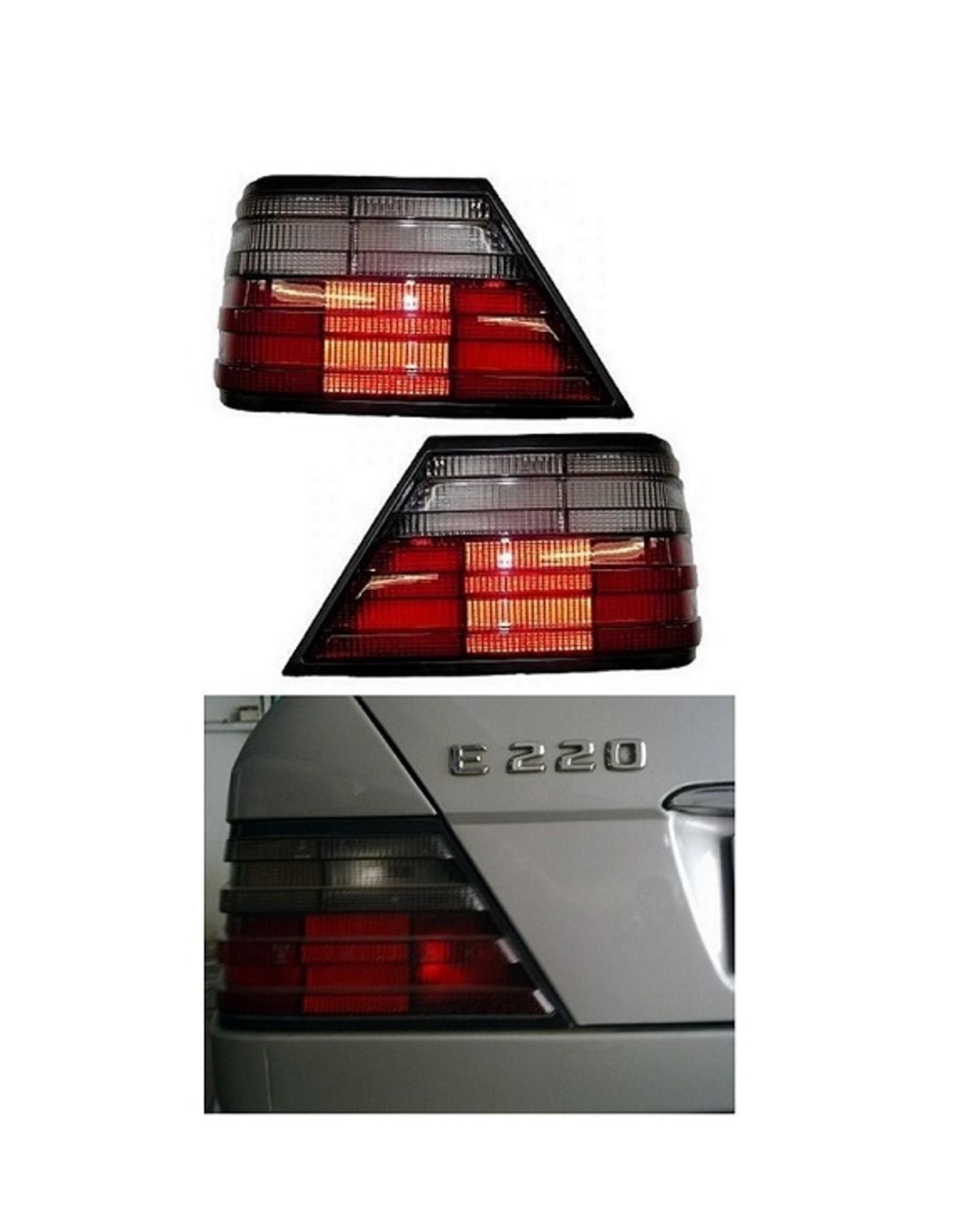Mercedes Benz W124 achterlichten rood smoke