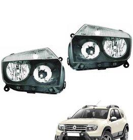 Koplampen zwart voor Dacia Duster