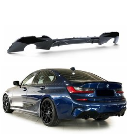 BMW 3 serie G20 diffusor, glossy zwart