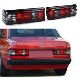 Mercedes Benz 190 W201 achterlichten rood smoke