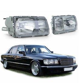 Mercedes Benz S Klasse W126 koplampen links en rechts