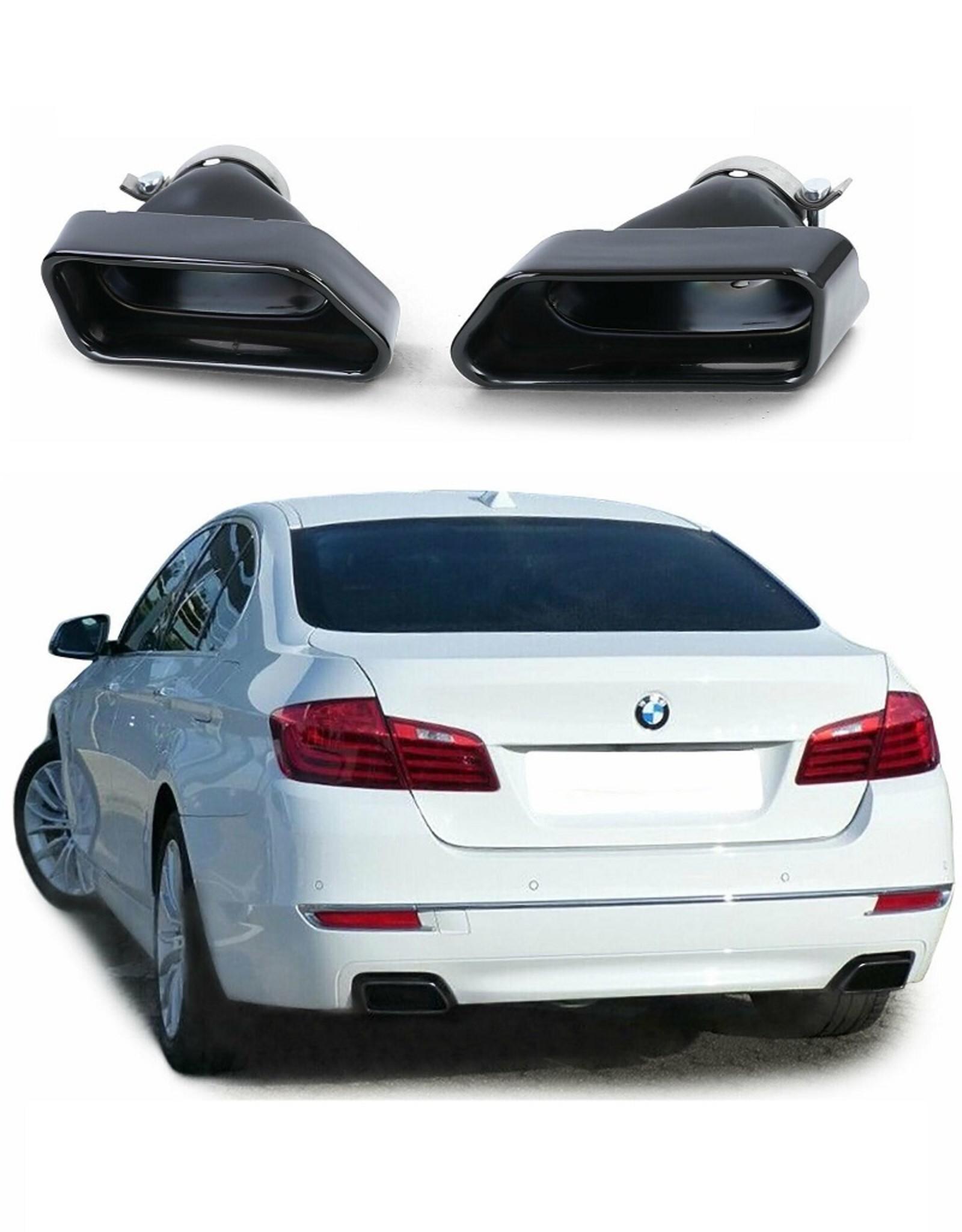 BMW 5 Serie F10 F11 zwarte RVS sierstukken 550i 550d look