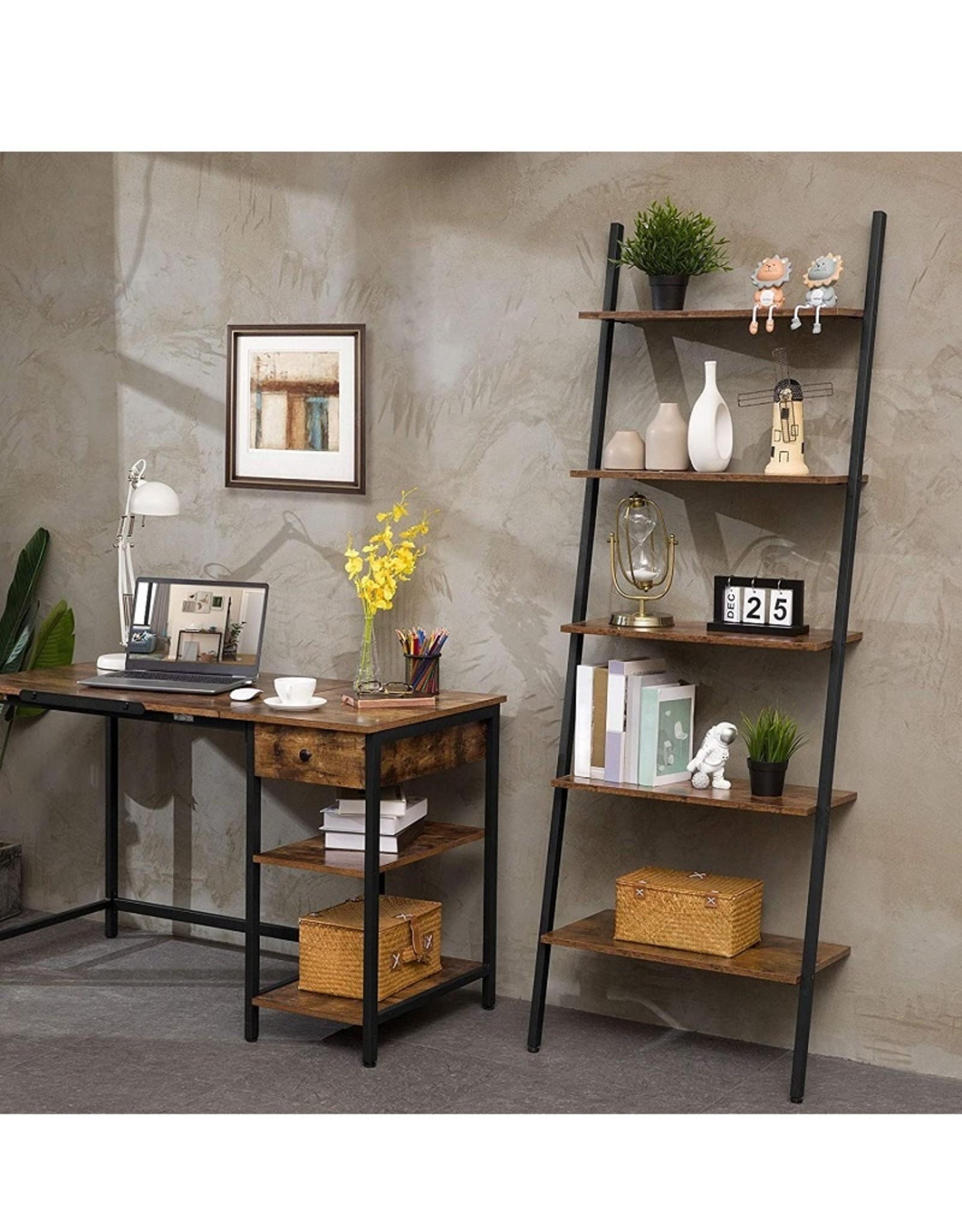 Ladderplank industrieel, boekenkast in rustic stijl