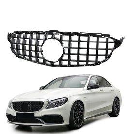 Mercedes Benz C Klasse W205 grille hoogglans zwart
