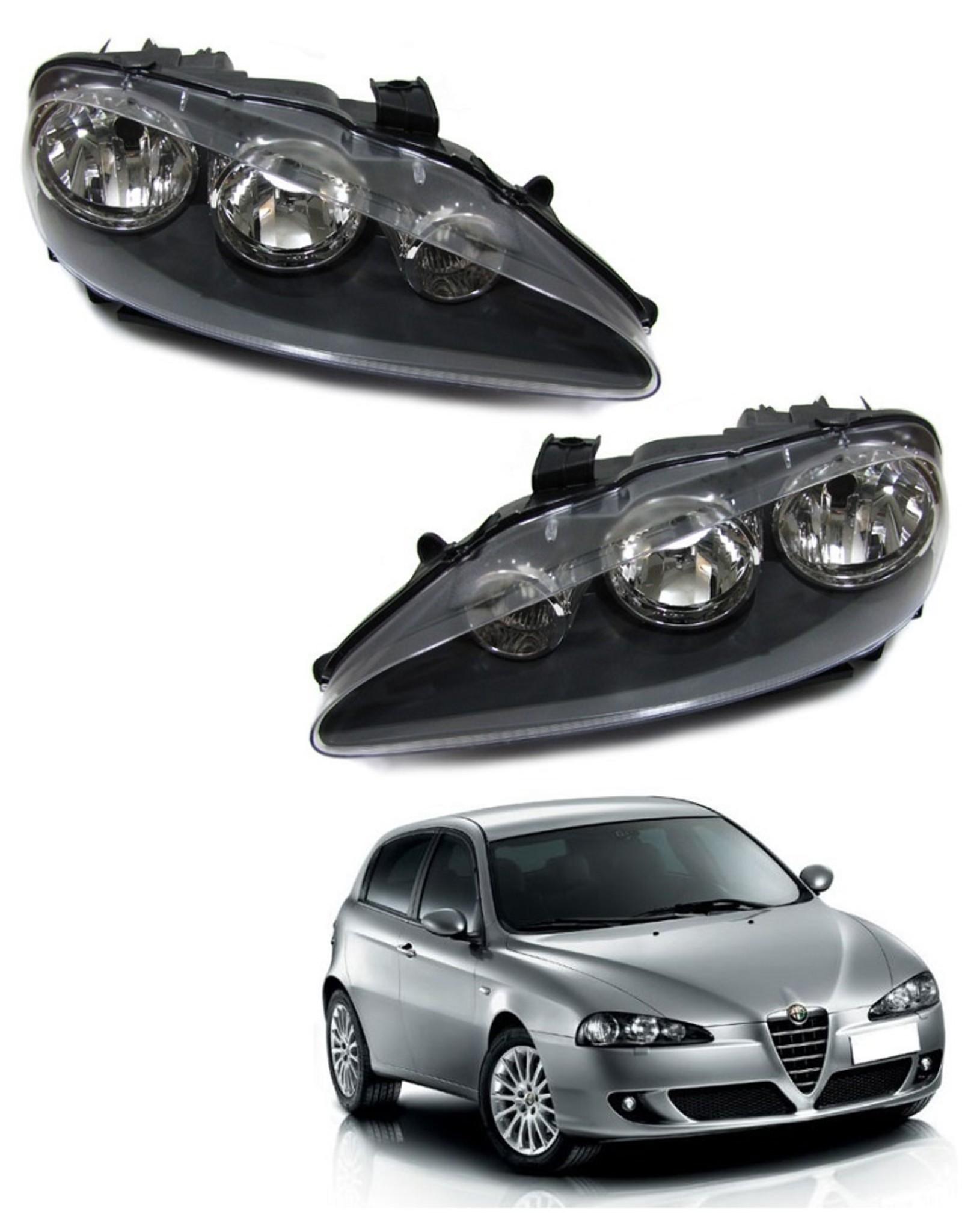 Alfa Romeo 147 koplampen links en rechts