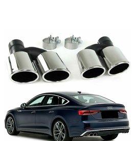 Audi A5 8T dubbele RVS eindpijpen links en rechts