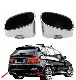 BMW X5 E70 RVS eindpijpen in 8 cylinder look