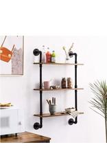Industriële wandrek vintage design kast 60 x 21 x 95 cm