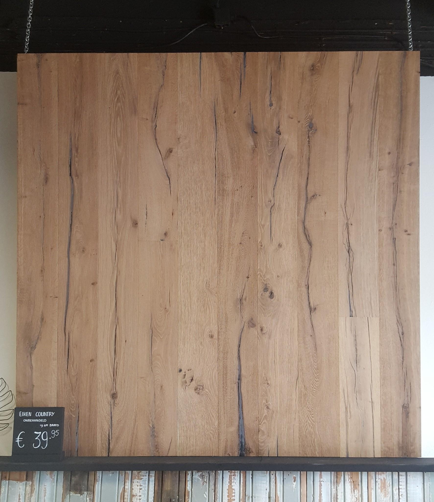 Eiken country houten vloer