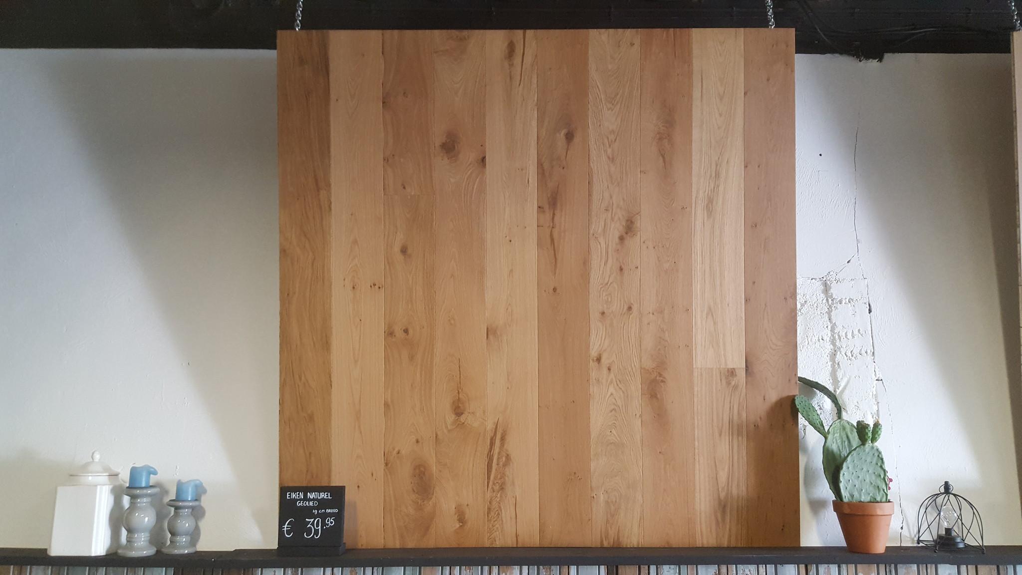 Eiken houten vloer naturel geolied