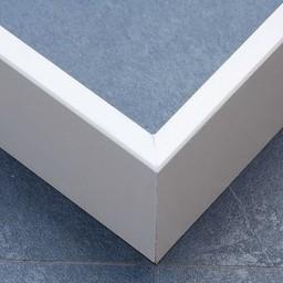 MDF plint recht model 15x90 mm, wit gegrond, lengte 244 cm