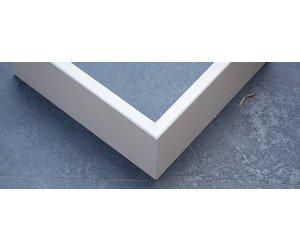 Mdf plint recht model mm wit gegrond lengte cm