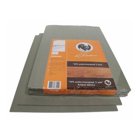 XPS plaat 3 mm ondervloer, pak 9,76 m2