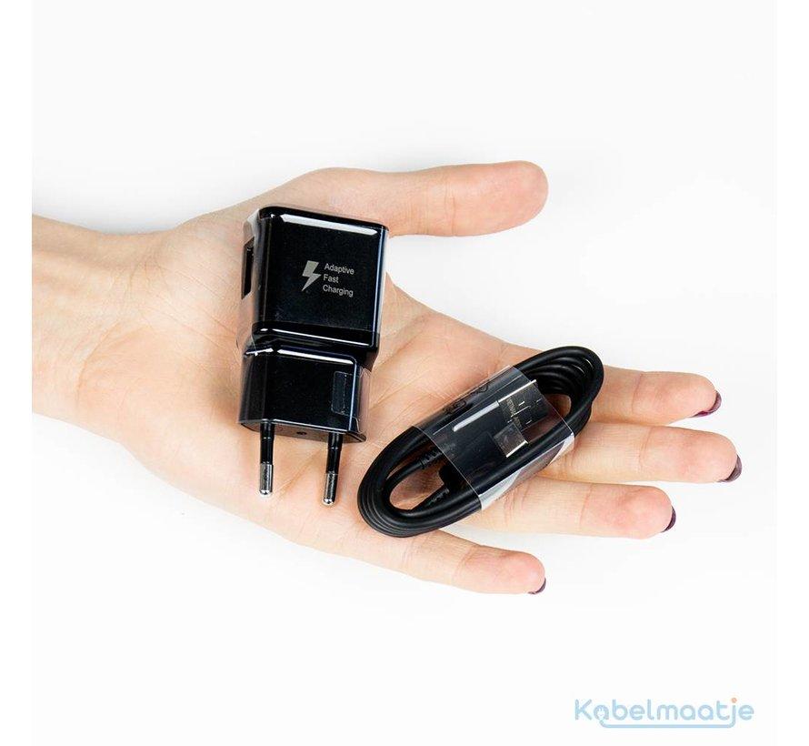 Originele USB snellader 9V + USB-C kabel Zwart