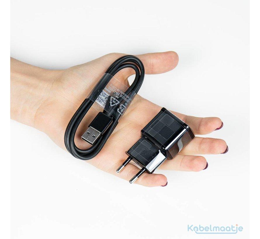 Originele USB oplader 5V + micro-USB kabel Zwart