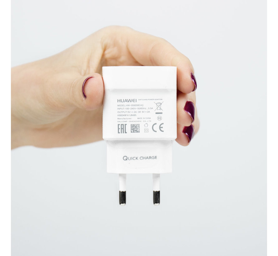 Originele USB snellader 9V Wit