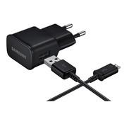 Bulkverpakking - voor Samsung Originele USB adapter 5V + micro-USB kabel Zwart