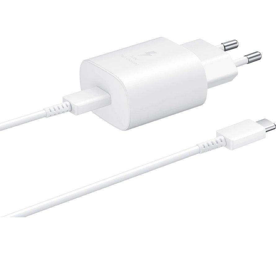 Samsung 25W Power Delivery oplader + kabel - USB-C snellader - Wit