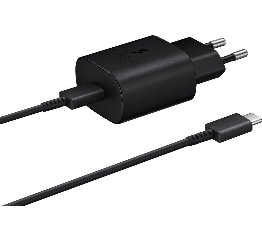 Samsung 25W Power Delivery oplader + kabel - USB-C snellader - Zwart