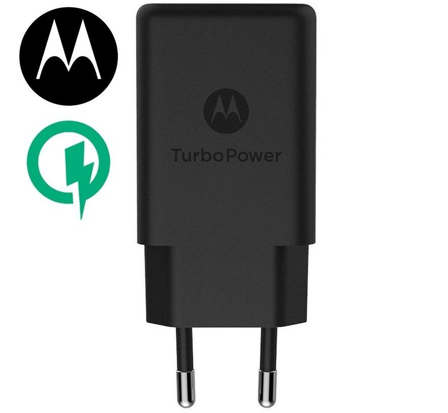 Originele Motorola USB snellader 15W + Micro-USB  kabel Zwart