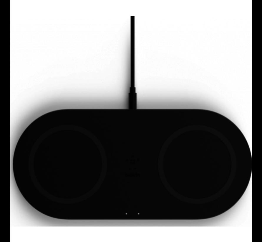 Belkin Boost - Duo Draadloze Oplader 10W + Adapter & Kabel - Zwart