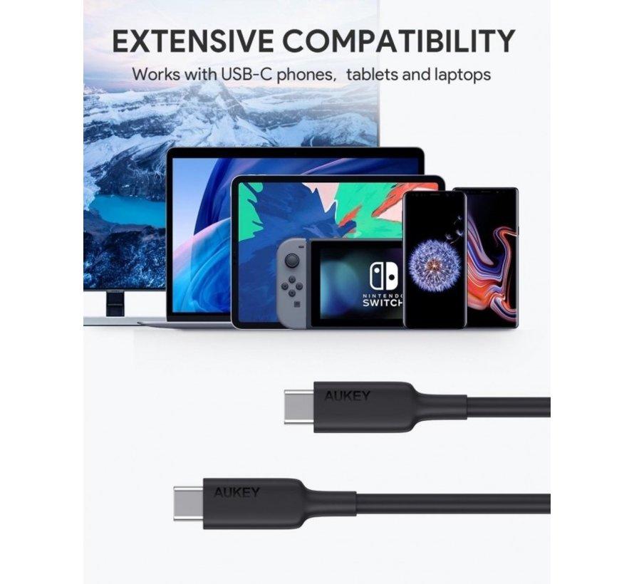 Aukey  USB-C naar USB-C Kabel Power Delivery  - 1 Meter
