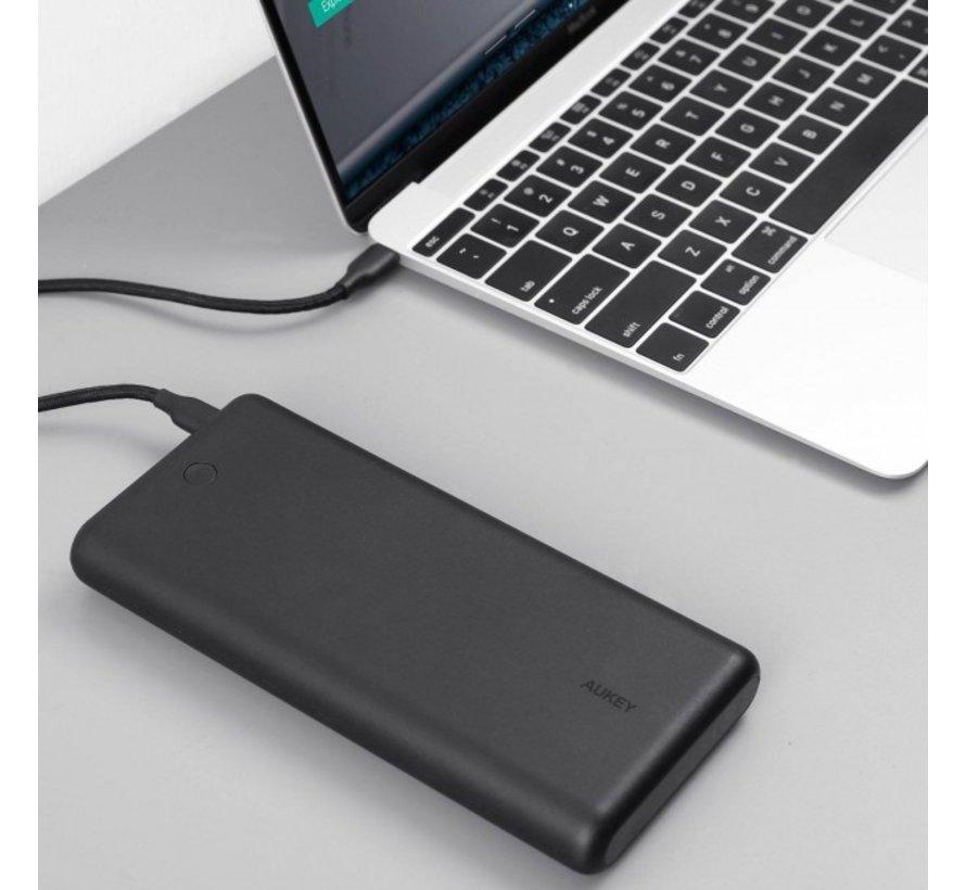 Aukey Powerbank  45W Fast Charging 26800mAh (USB-C + USB-A)