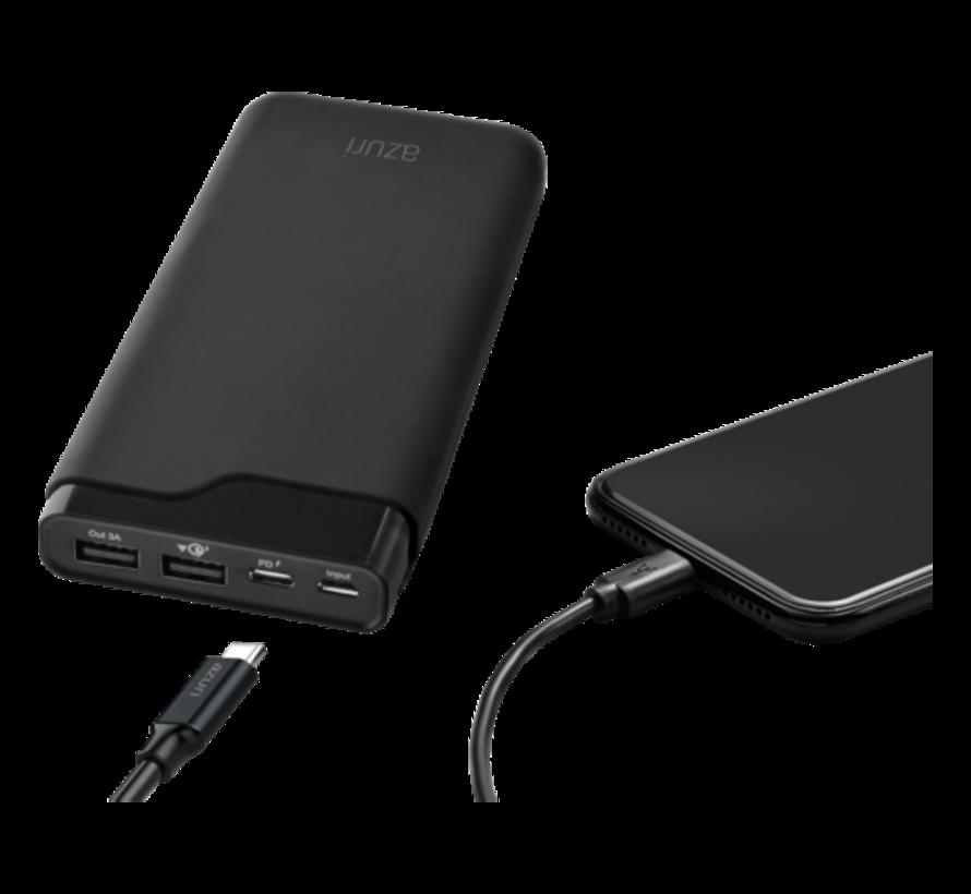 Powerbank Azuri Quick Charge 3.0 + USB-C - 20.100 mAh
