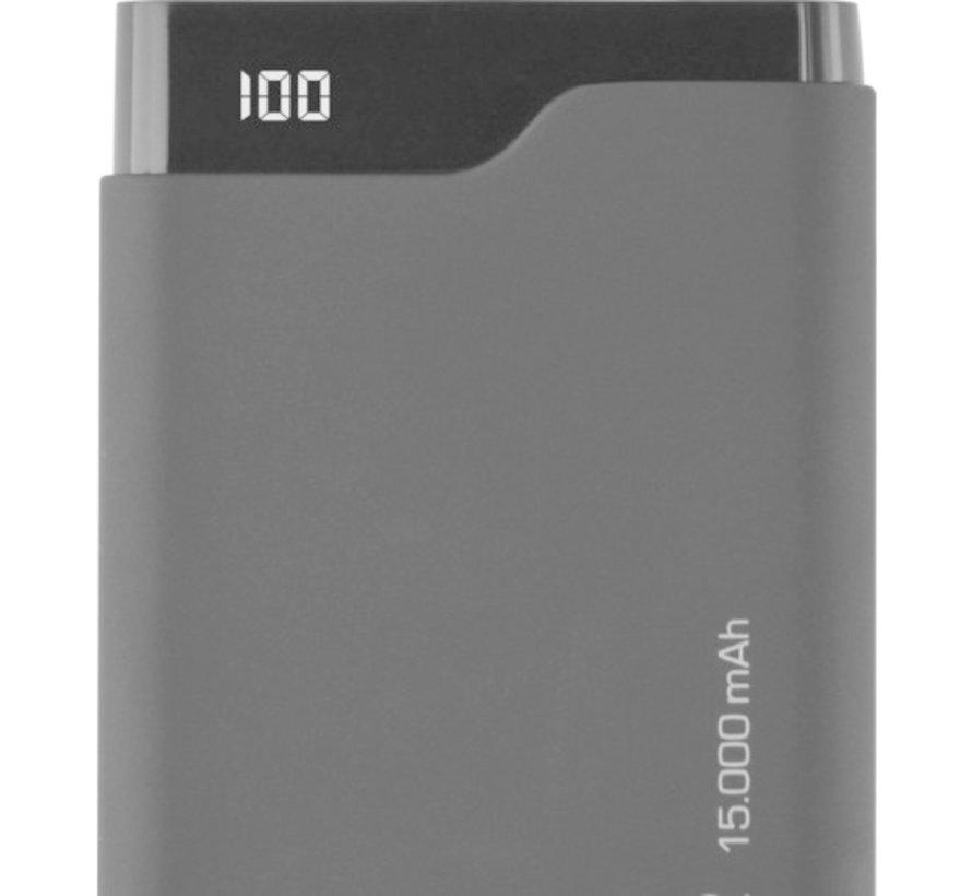 Slim Powerbank Azuri  + USB-C 15.000 mAh