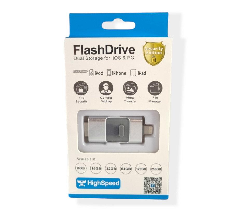 128 GB - Lightning USB Stick - Grijs