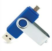 Retailverpakking 128 GB - USB Stick - Micro USB (OTG) - Blauw
