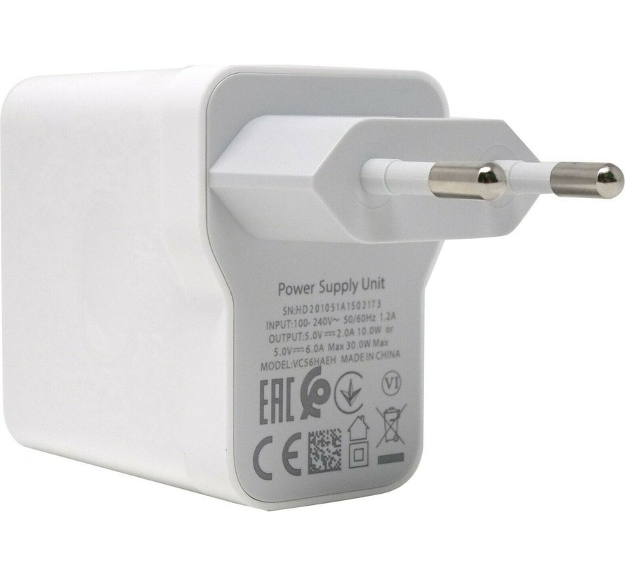 Originele OPPO - Vooc adapter 30 W + USB-C kabel Wit