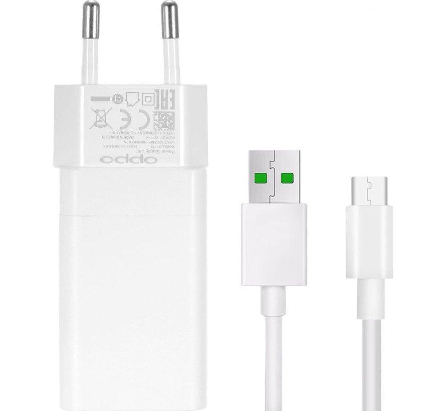 Originele OPPO - Vooc adapter 20 W + USB-C kabel Wit
