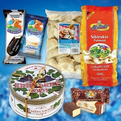 Tiefgefrorene Produkte