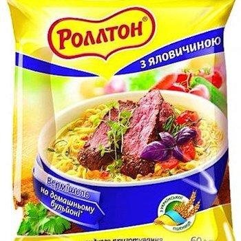 Rollton Rollton Nudel mit Rindfleischgeschmack 60g
