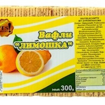 YES YES  Waffeln Limoschka ( Limonengeschmack)  300g
