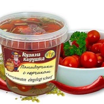 Kusina Kaduschka Cherry-Tomaten Leichtgesalzen/Peperoni 600ml