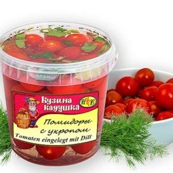 Kusina Kaduschka Cherry -Tomaten Leichtgesalzen mit Dill 600ml